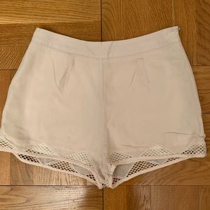 Urban outfitters ivory shorts